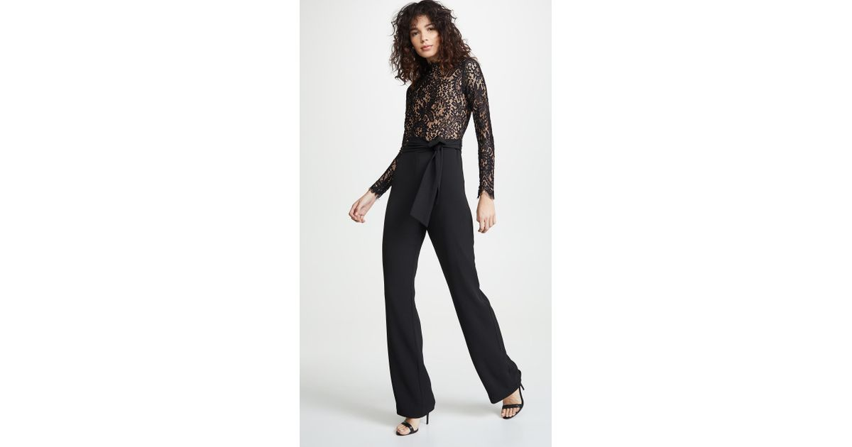 0ef0d827687 Lyst - Misha Collection Allegra Jumpsuit in Black