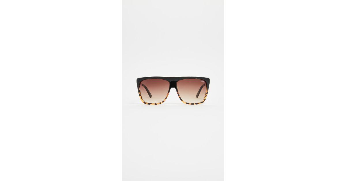 2cdc344df2 Quay X Desi Perkins Otl Ii Sunglasses in Brown - Lyst