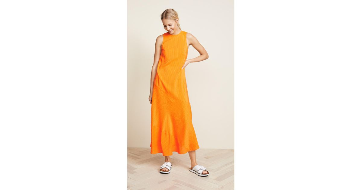536f91d3 Ganni Wilkie Dress in Orange - Lyst