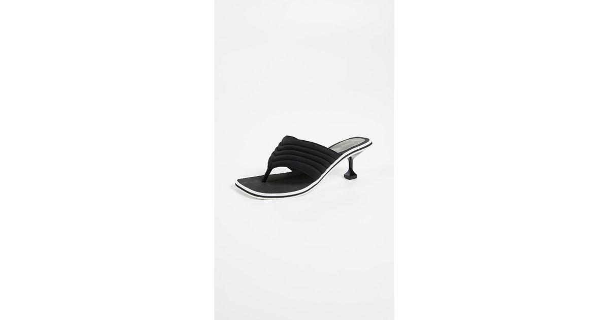 b4578b3ad38 Lyst - Jeffrey Campbell Overtime Kitten Heel Flip Flops in Black