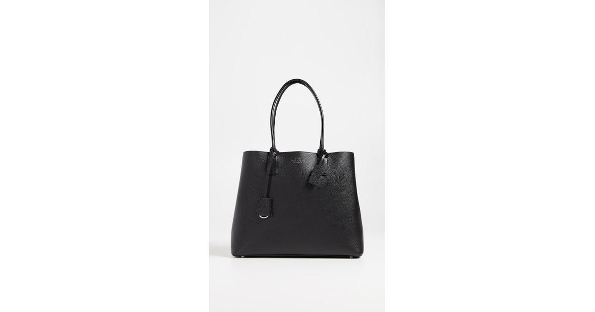 smythson panama business bag in black lyst rh lyst co uk