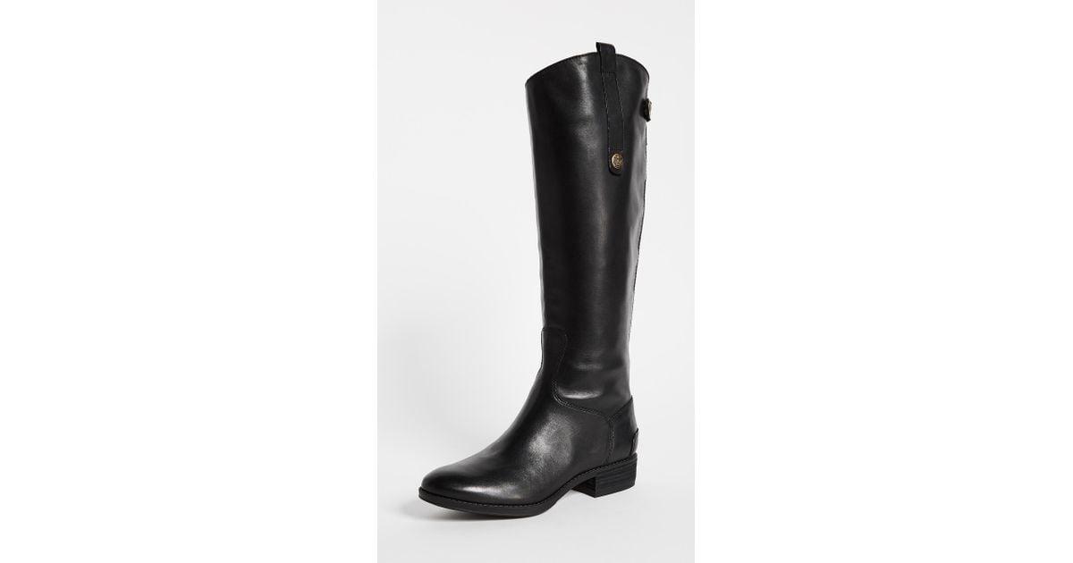 4c2b4b557 Sam Edelman Penny Riding Boots in Black - Lyst