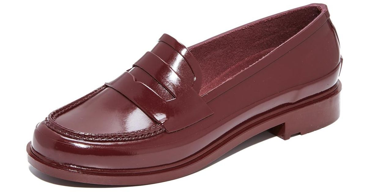 67d18e8cbb3 Lyst - HUNTER Original Penny Loafers