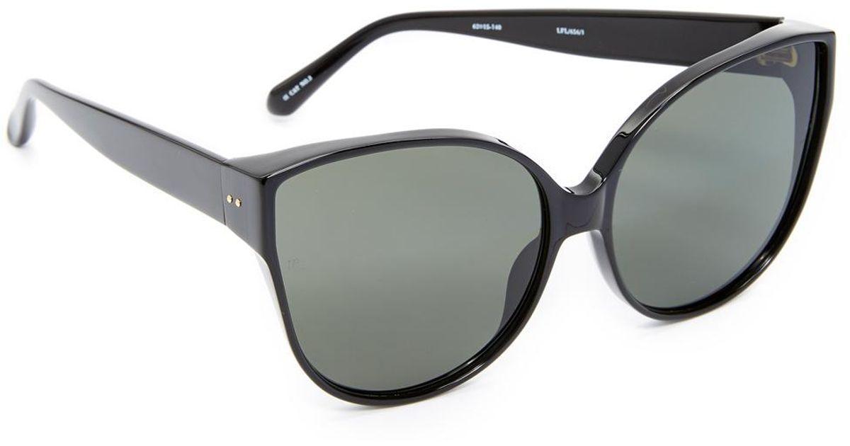 22ccd850d7a2 Linda Farrow Oversized Cat Eye Sunglasses in Gray - Lyst