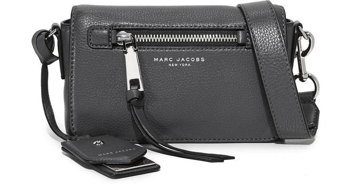 70ae8bbbe04b Marc Jacobs Recruit Cross Body Bag in Black - Lyst