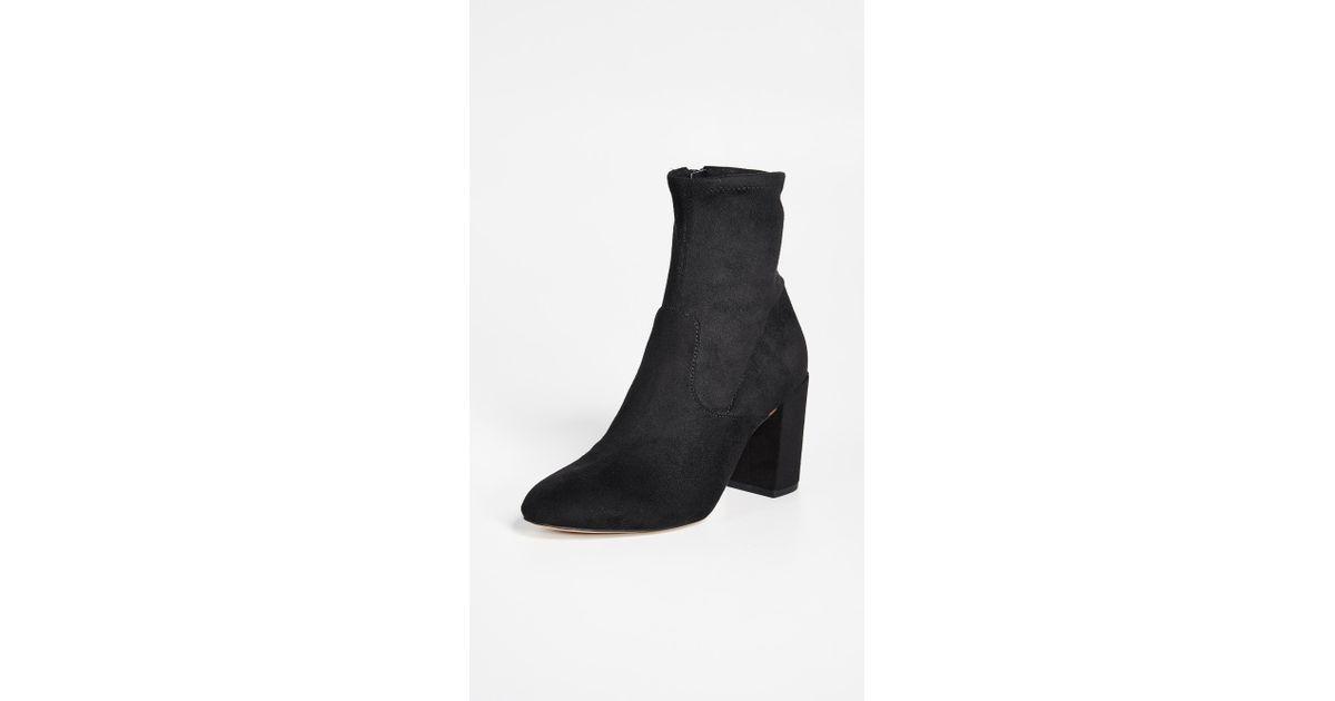 004299713f7 Lyst - Rebecca Minkoff Gianella Block Heel Booties in Black