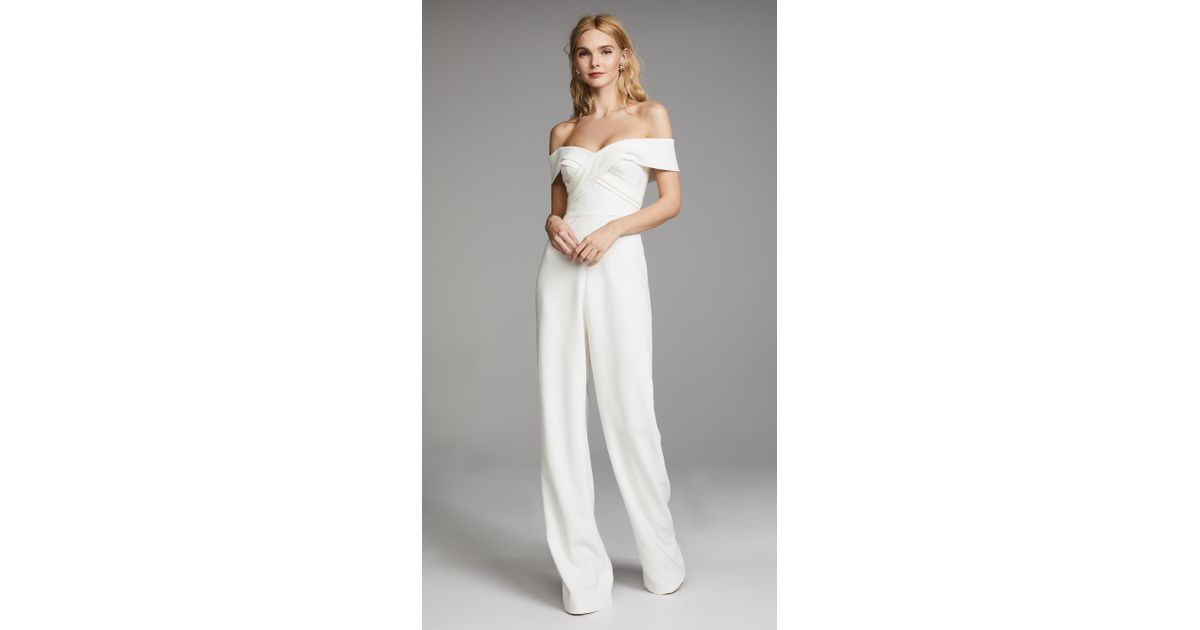eedb7401c7 Lyst - THEIA Colette Jumpsuit in White