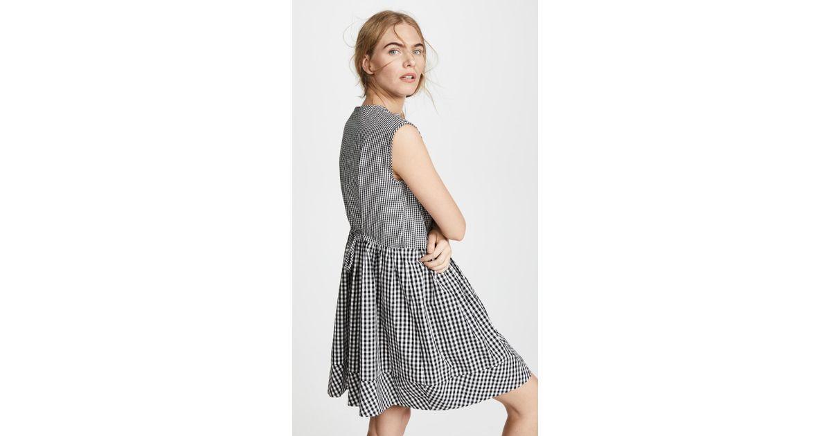 44add6880f Madewell Tie Back Mini Dress in Black - Lyst