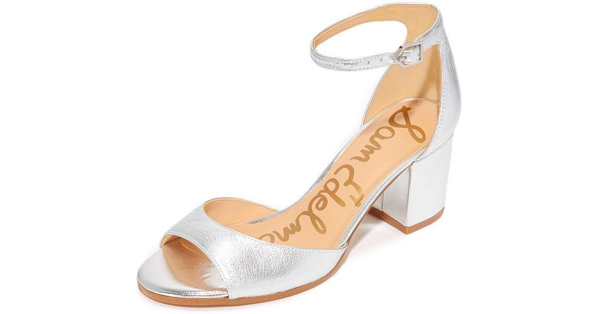 f01bcc9e8ef626 Lyst - Sam Edelman Susie City Sandals in Metallic