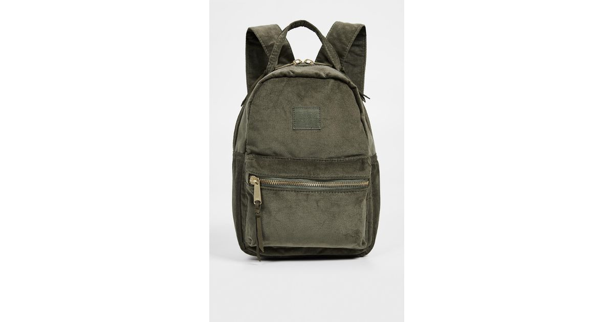 42ad8851408 Lyst - Herschel Supply Co. Nova Mini Corduroy Backpack in Green