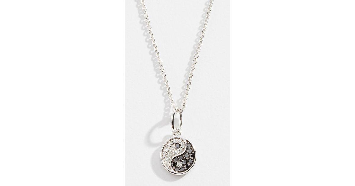 Lyst Sydney Evan 14k Small Yin Yang Necklace In Metallic