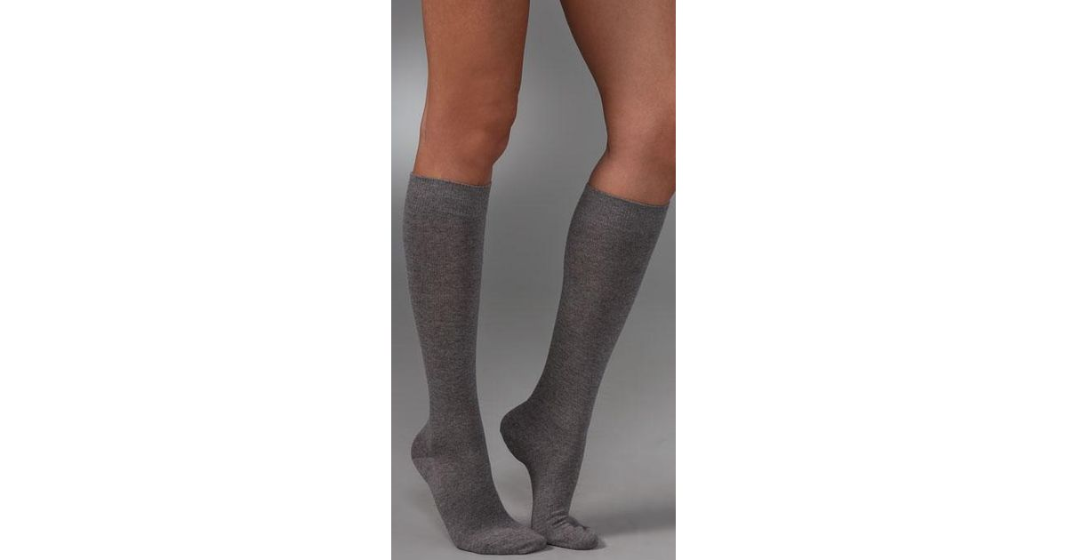 a63fb1e0297 Lyst - Falke Family Knee High Socks in Gray