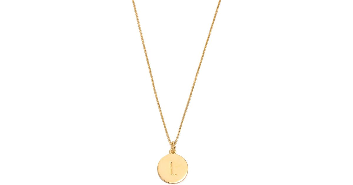 Lyst kate spade letter pendant necklace r in metallic aloadofball Images