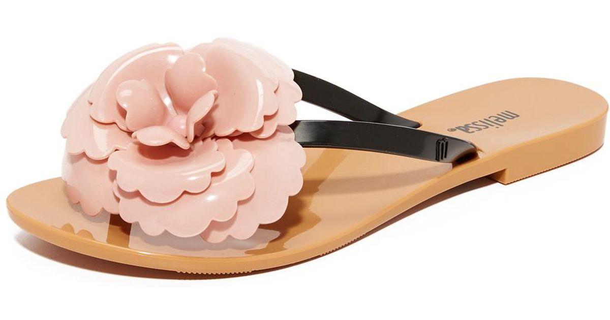dd7fe58f3d746 Lyst - Melissa Harmonic Flower Thong Sandals in Pink