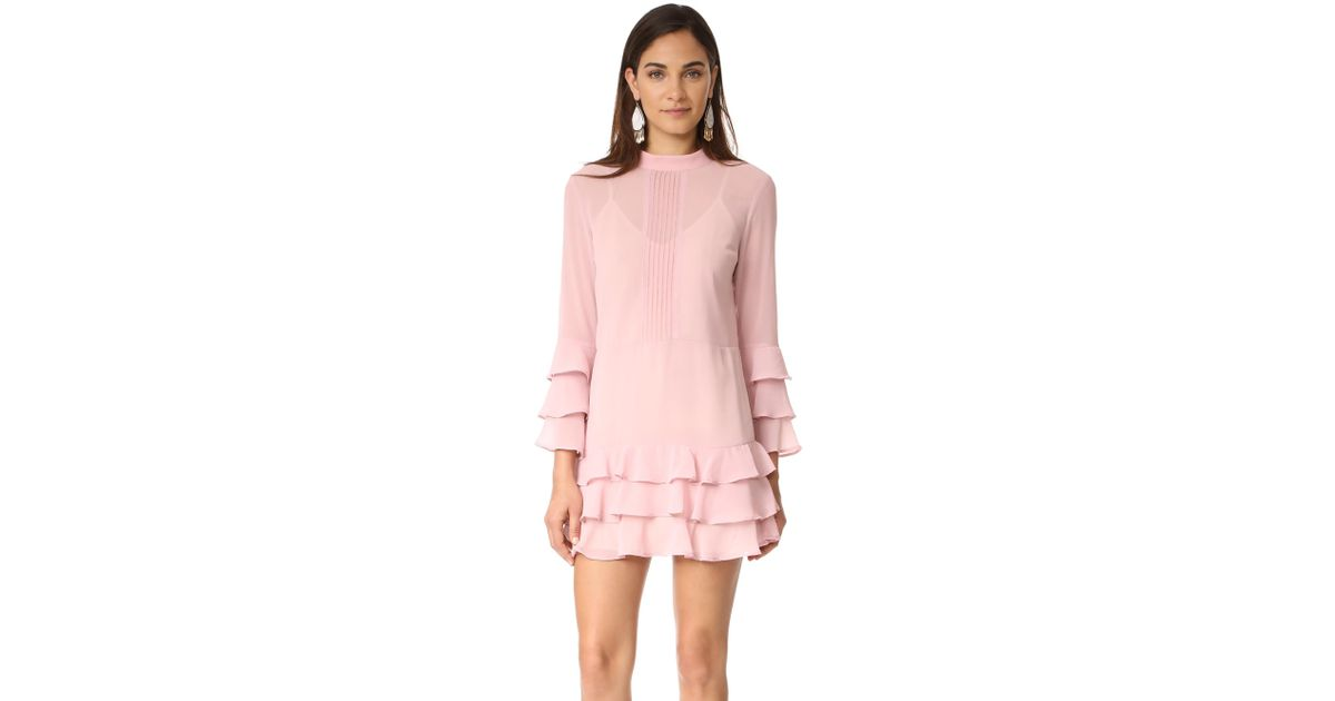 8b11aeea58bc Lyst - Endless Rose Dress With Tiered Sleeve in Pink