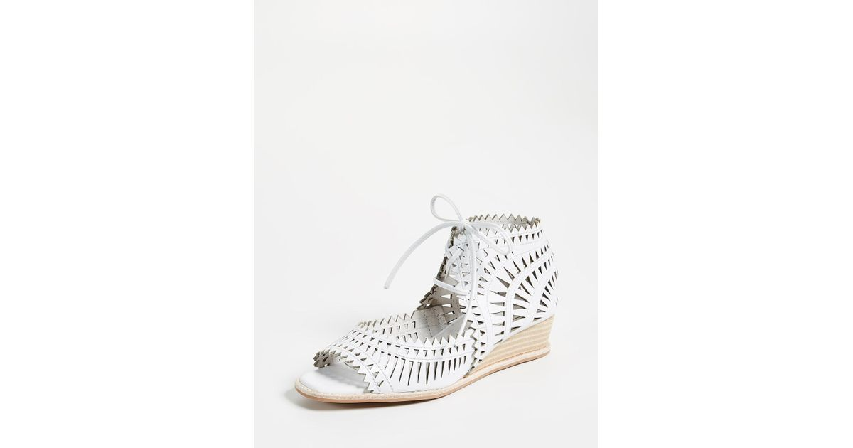 fd100b04068 Jeffrey Campbell - White Rodillo Wedge Sandals - Lyst