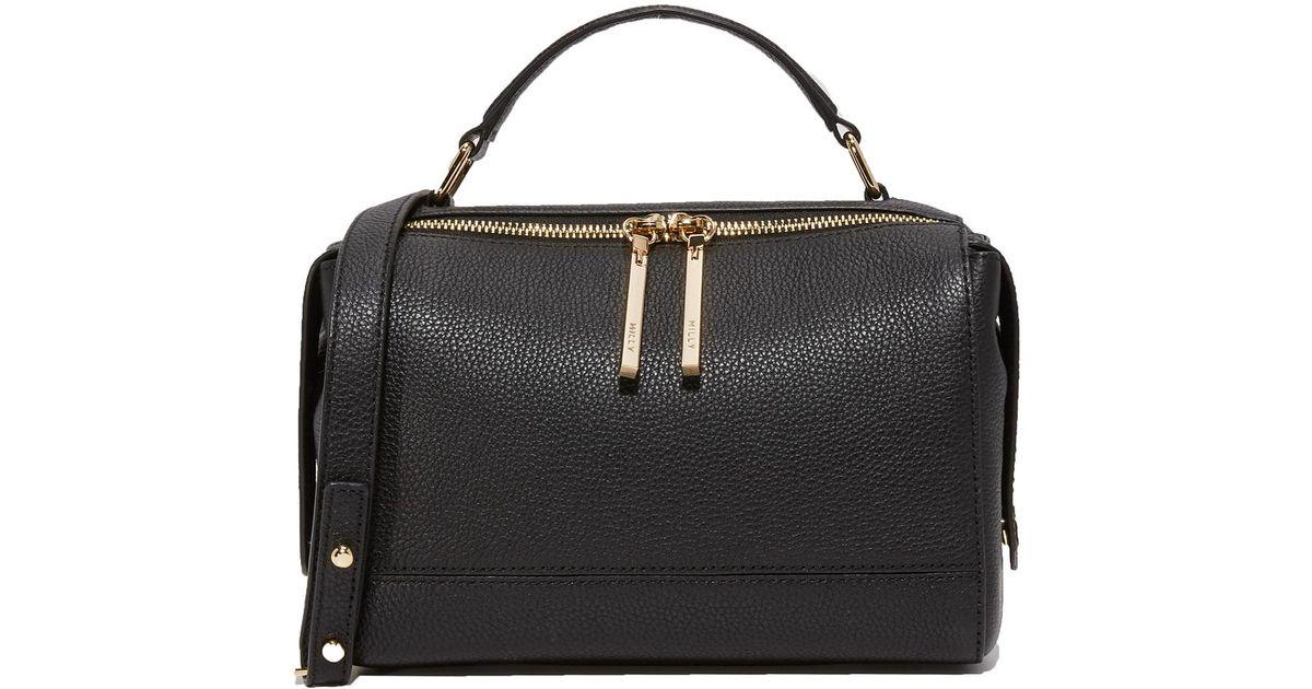 f542f08dad57e Lyst - MILLY Astor Soft Satchel in Black