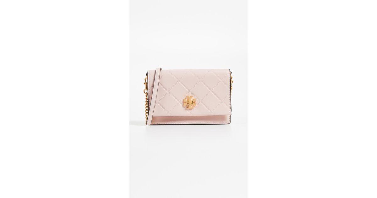 87a8d68be25ff Lyst - Tory Burch Georgia Turn Lock Mini Bag in Pink