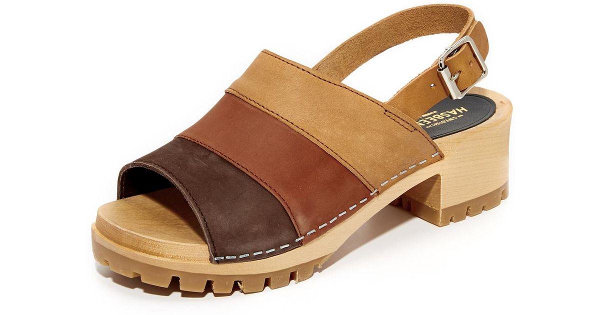 de55009a514 Lyst - Swedish Hasbeens Hippie Sandals in Brown