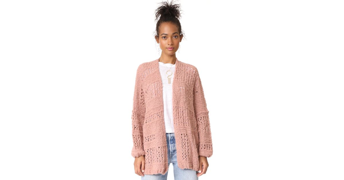 03e2f2c099f2 Free People Saturday Morning Cardigan in Pink - Lyst