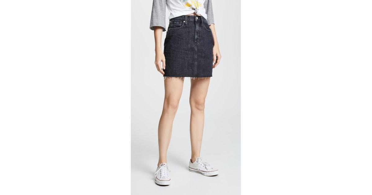 a1d6108df Madewell Vintage Black Denim Skirt in Black - Lyst