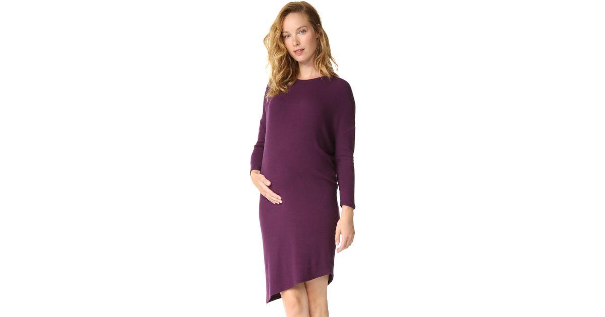 4d734536a7e Lyst - Ingrid   Isabel Long Sleeve Circle Tee Dress in Purple