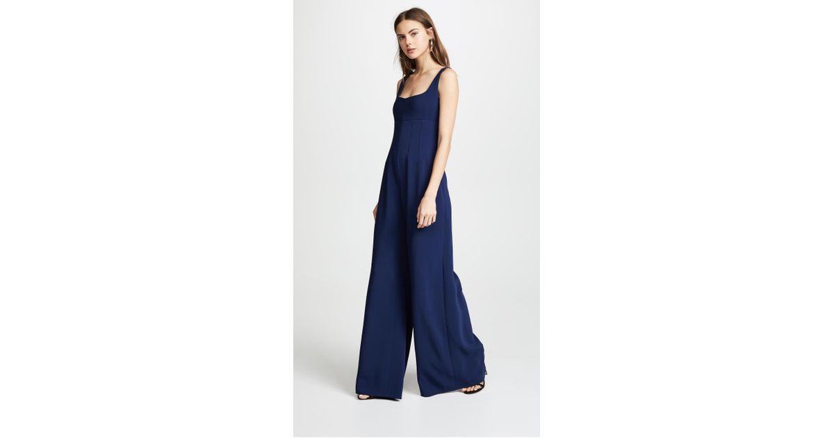 c593b2f31da8 Lyst - Cushnie et Ochs Celesta Sleeveless Wide Leg Jumpsuit in Blue
