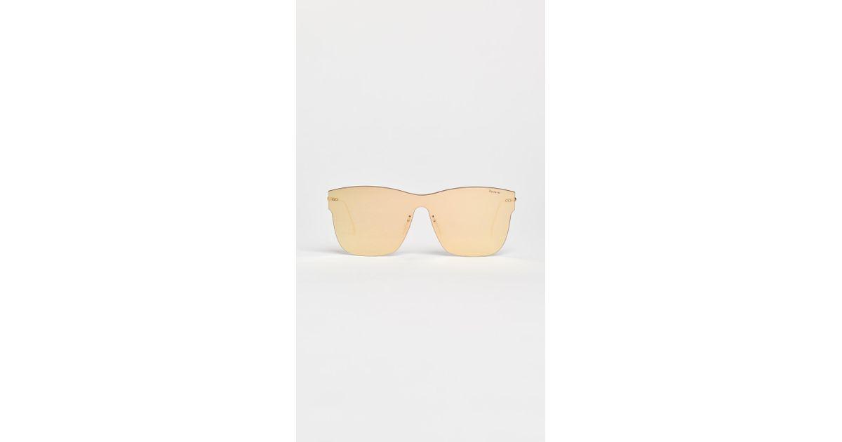 0e59125b3063 Illesteva Newbury Sunglasses in Metallic - Lyst