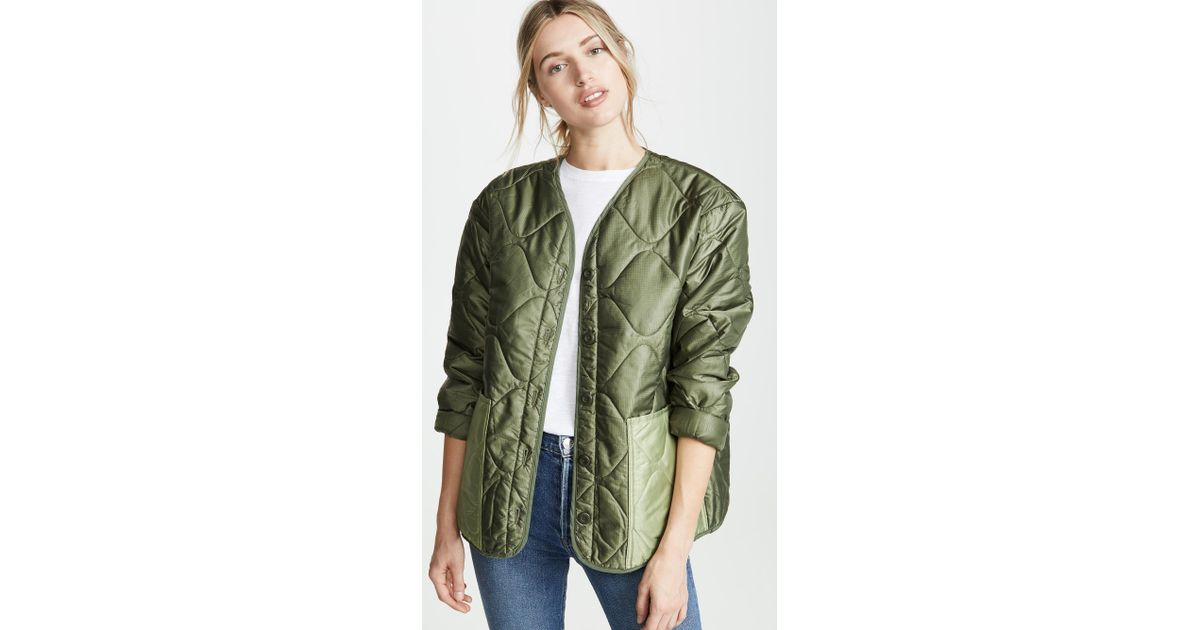 5d702187b073e Anine Bing Andy Bomber Jacket in Green - Lyst