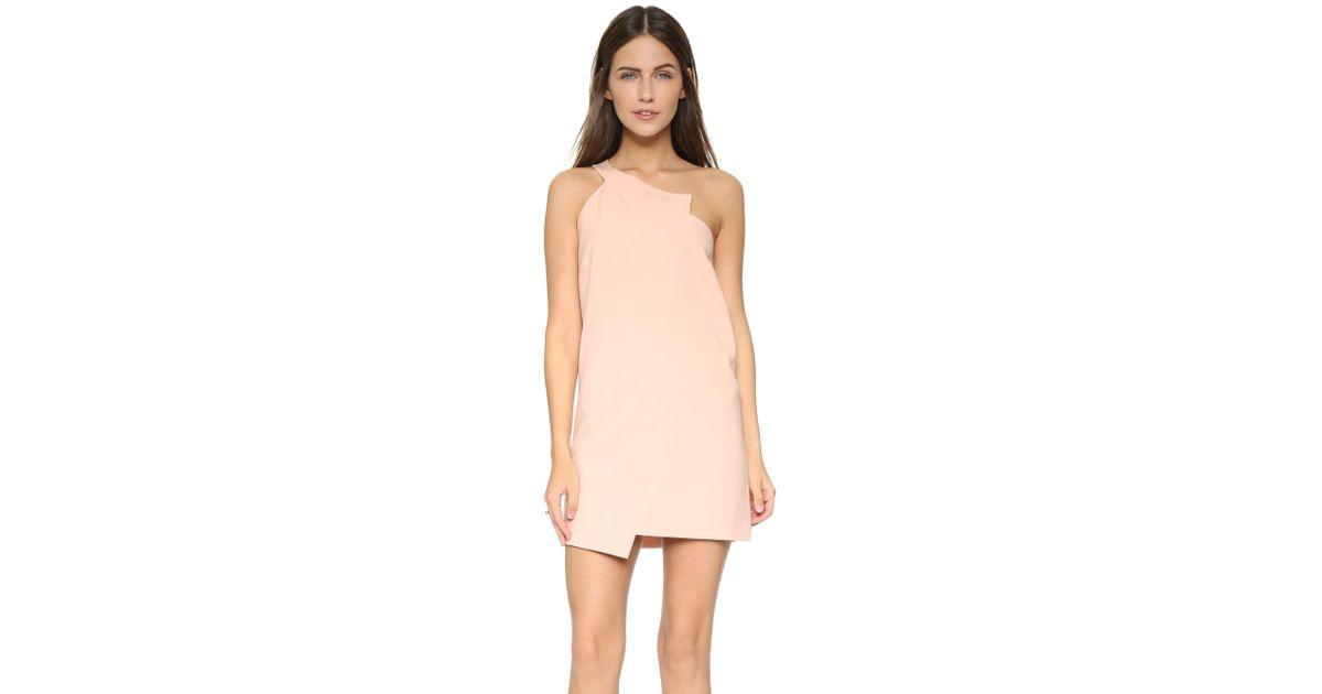 a9fdd41c30c Lyst - Michelle Mason One Shoulder Shift Dress in Pink