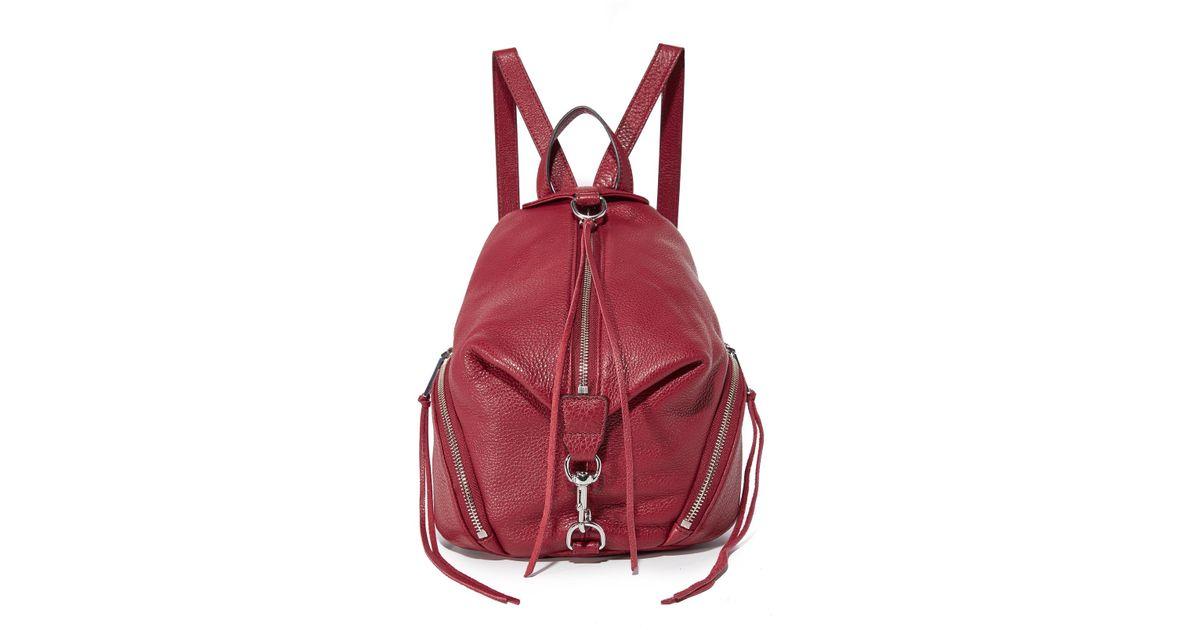 ee4fbfd0ec Lyst - Rebecca Minkoff Medium Julian Backpack in Red
