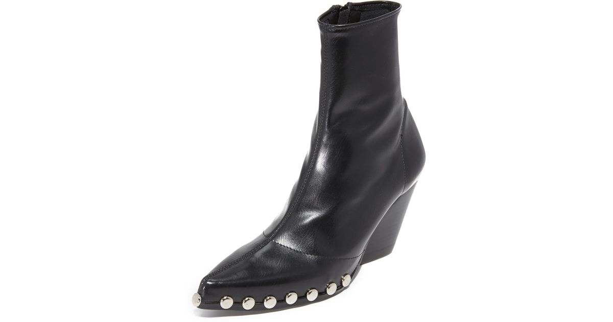 fc6209ef46a5 Lyst - Jeffrey Campbell Walston Studded Booties in Black