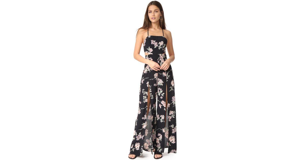 01b718f9ce03 Lyst - Flynn Skye Joy Jumpsuit in Black