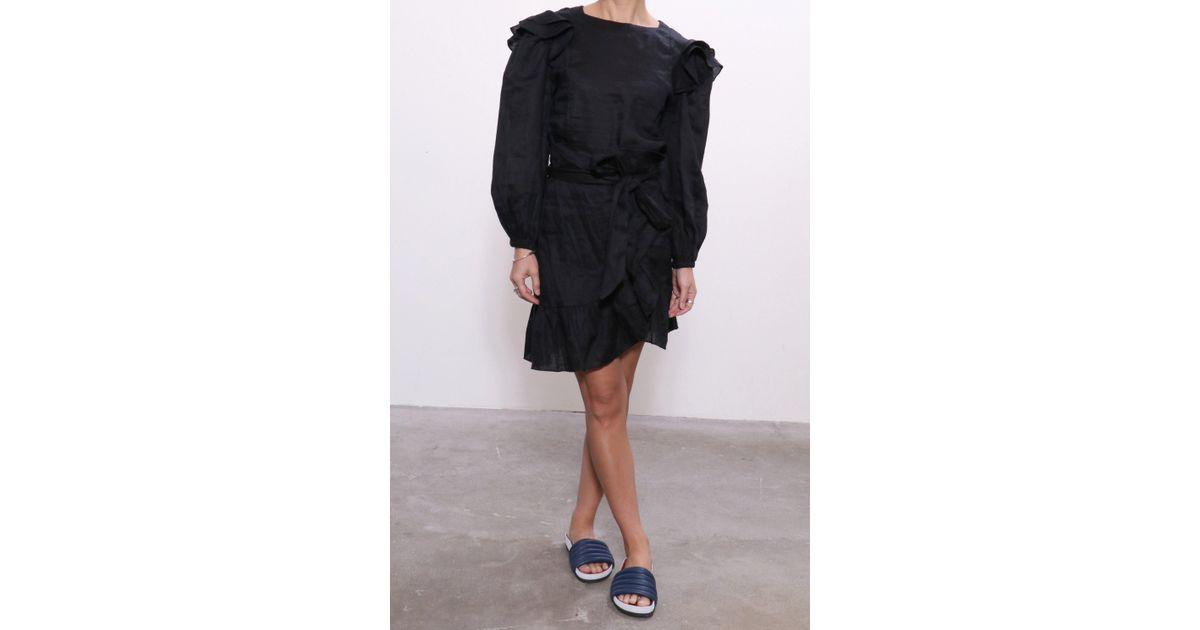 8c9f15c23ed Étoile Isabel Marant Telicia Dress In Black in Black - Lyst