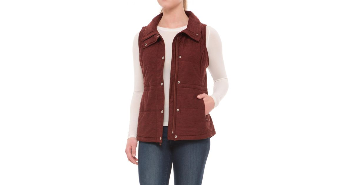 a88d975caaef Lyst - The North Face Pseudio Vest in Red