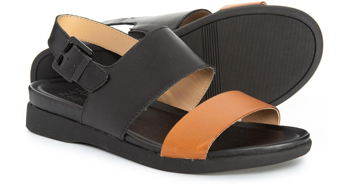 0032aa7ad876 Lyst - Naturalizer Emory Sandals in Black