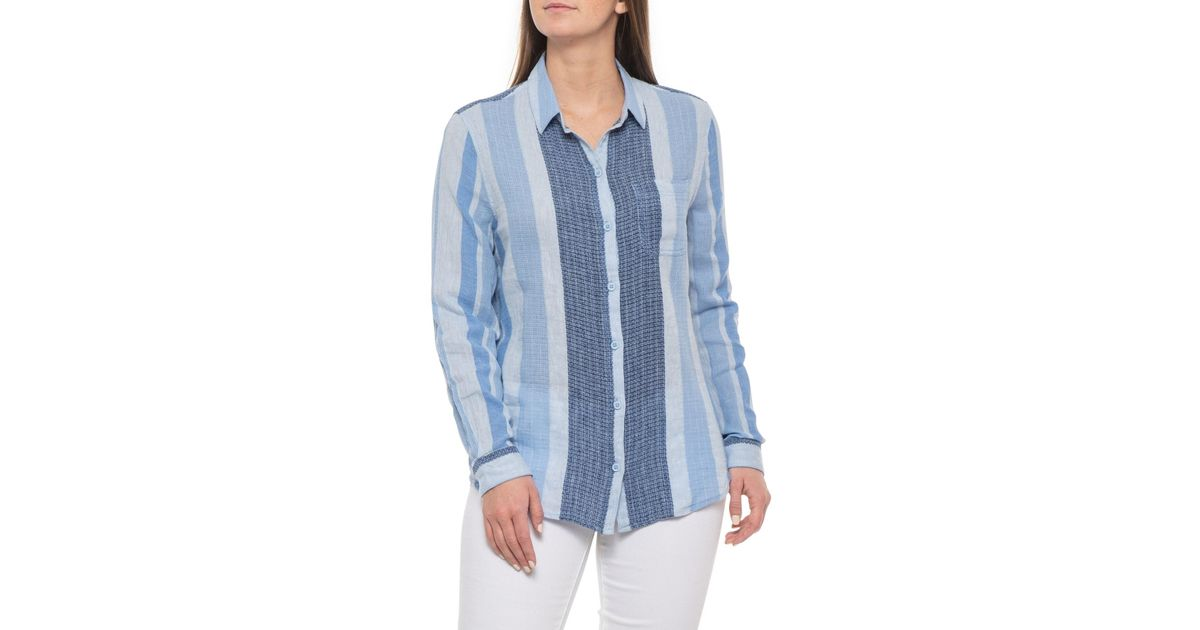 c9b1353b38 Lyst - Beach Lunch Lounge Blue Bonnet Charley Shirt in Blue