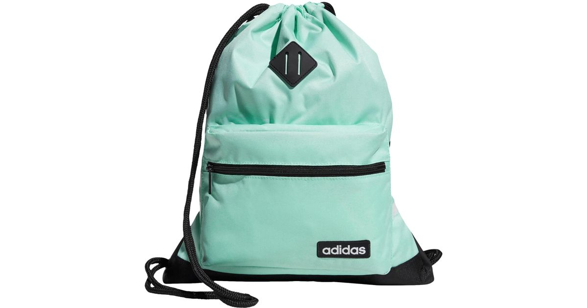 Lyst - adidas Classic 3s Sackpack in Green 8d58fb69ac