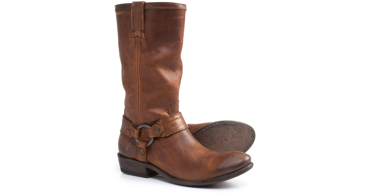 714a6475749 Frye - Brown Carson Harness Leather Boots (for Women) - Lyst