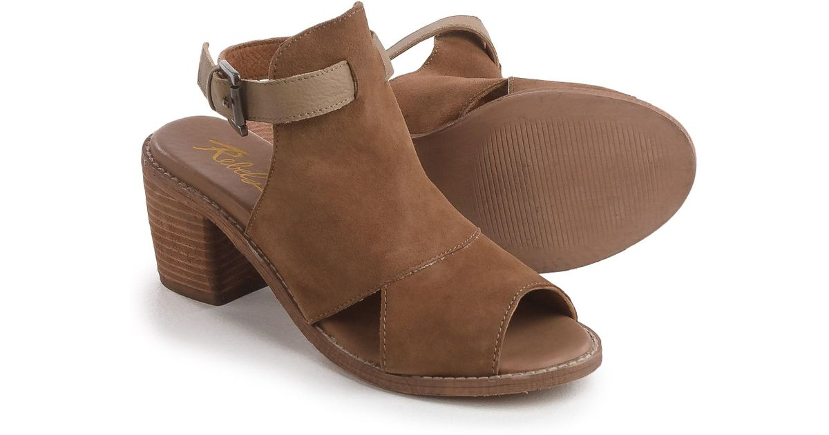db753b6f8337 Lyst - Rebels Backless Sandals in Brown