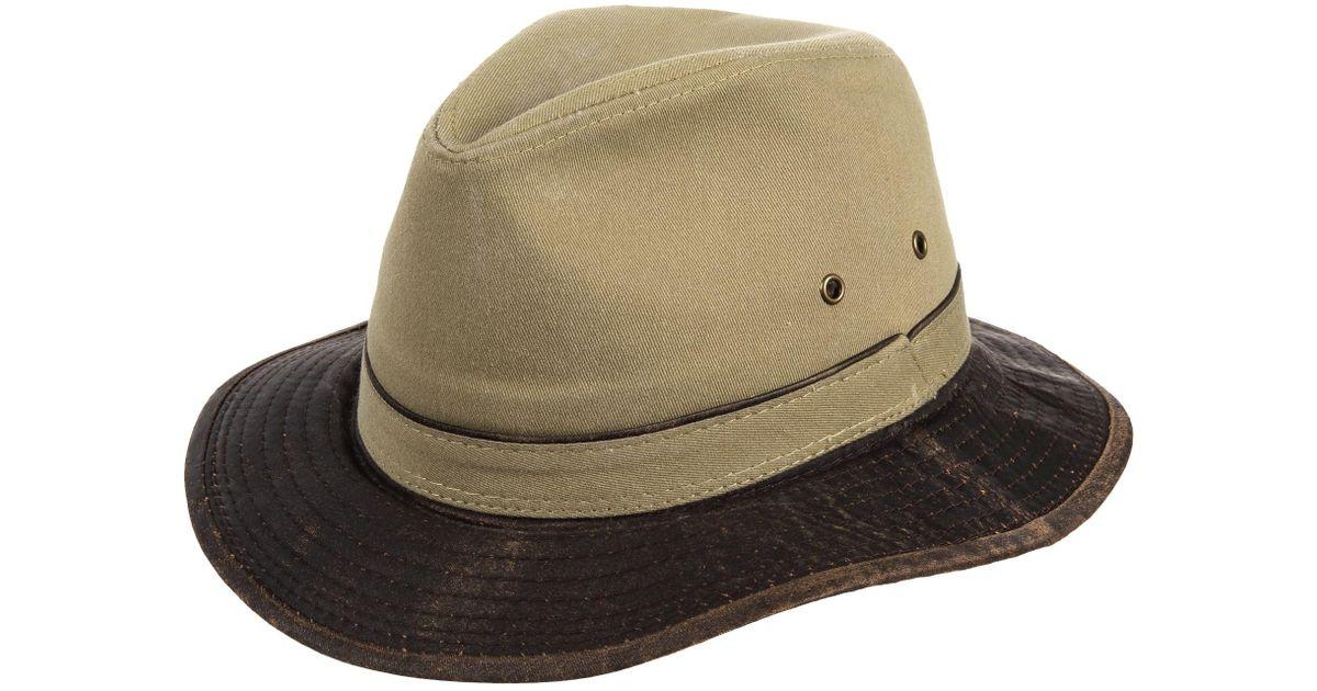 5c882d4f5ec7b2 Dorfman Pacific Garment-washed Twill Safari Hat for Men - Lyst
