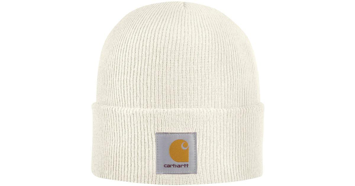 069ceb4c76703f Carhartt Rib-knit Beanie Hat (for Women) in White - Lyst
