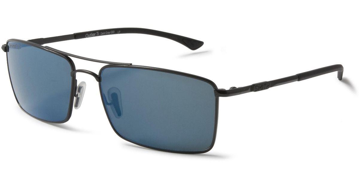 af757d456a99e Lyst - Smith Optics Outlier Titanium Sunglasses in Blue for Men