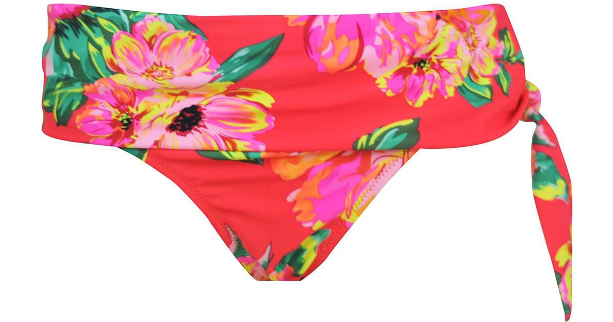 68d82589d4a36 Moda In Pelle Pour Moi Heatwave Fold Over Tie Brief in Red - Lyst