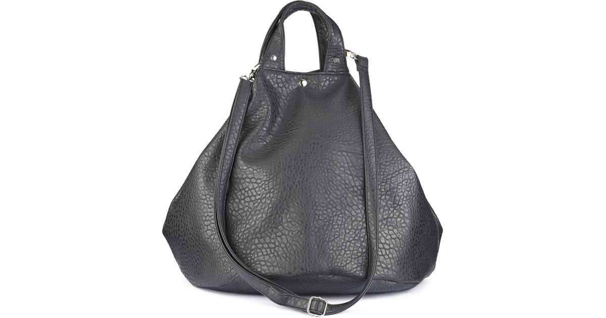 f2e1bb225d Lyst Simply Be Giant Bubble Pu Duffle Bag In Black