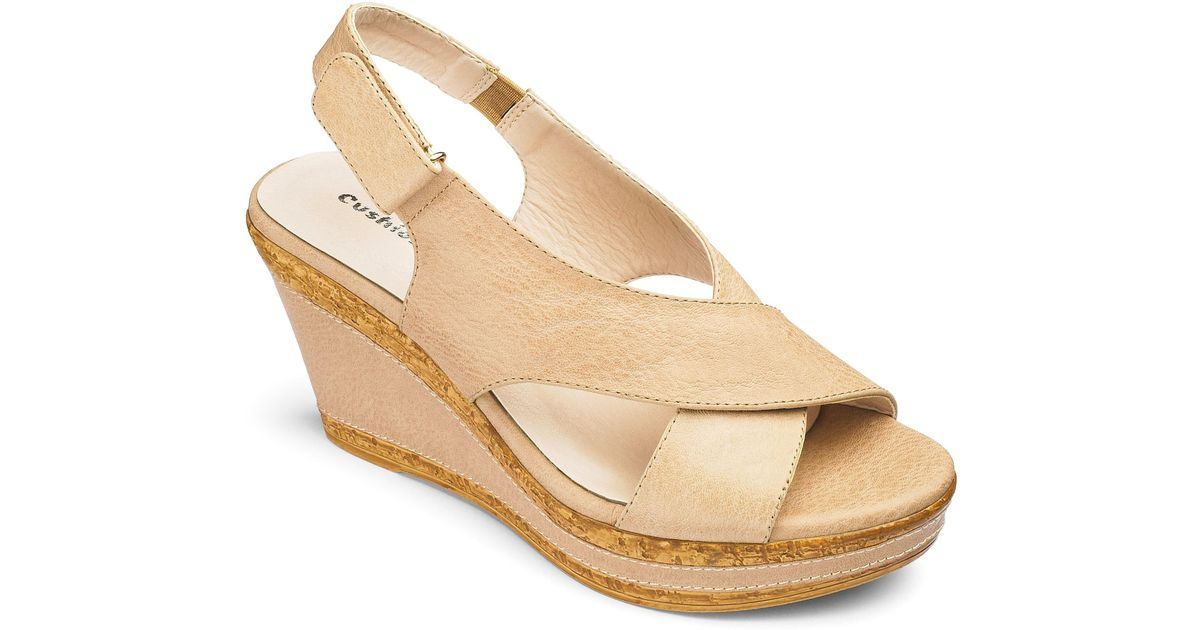 30be75676fa Lyst - Simply Be Cushion Walk Wedge Sandals in Natural