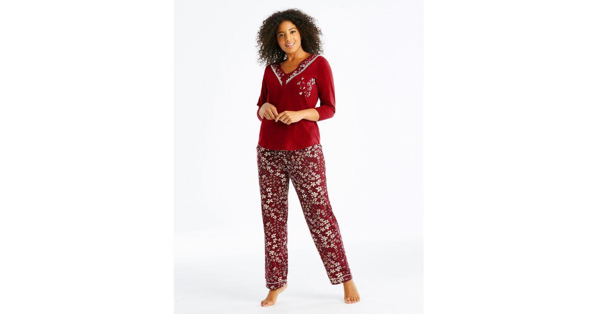 Lyst - Simply Be Joe Browns Printed Pj Pants in Red 3a811f5bd