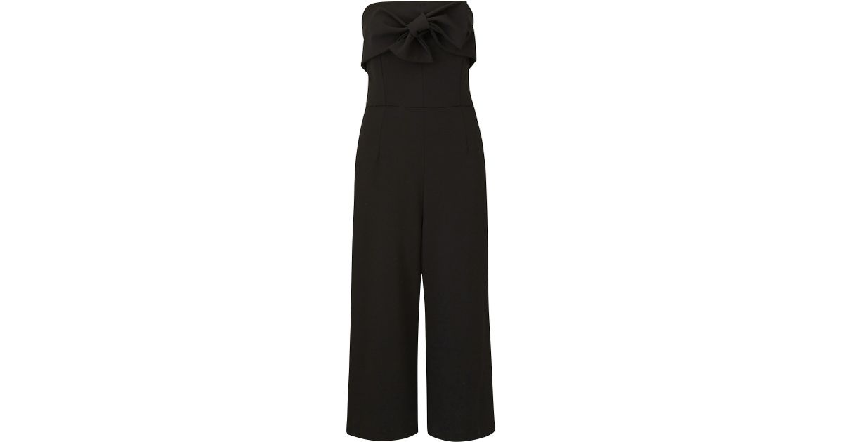 9a570dff2dcf Lyst - Simply Be Joanna Hope Bow Detail Jumpsuit in Black