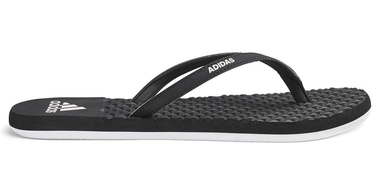 Lyst - Simply Be Adidas Eezay Soft Flip Flops in Black 76ad8a8ad7c8