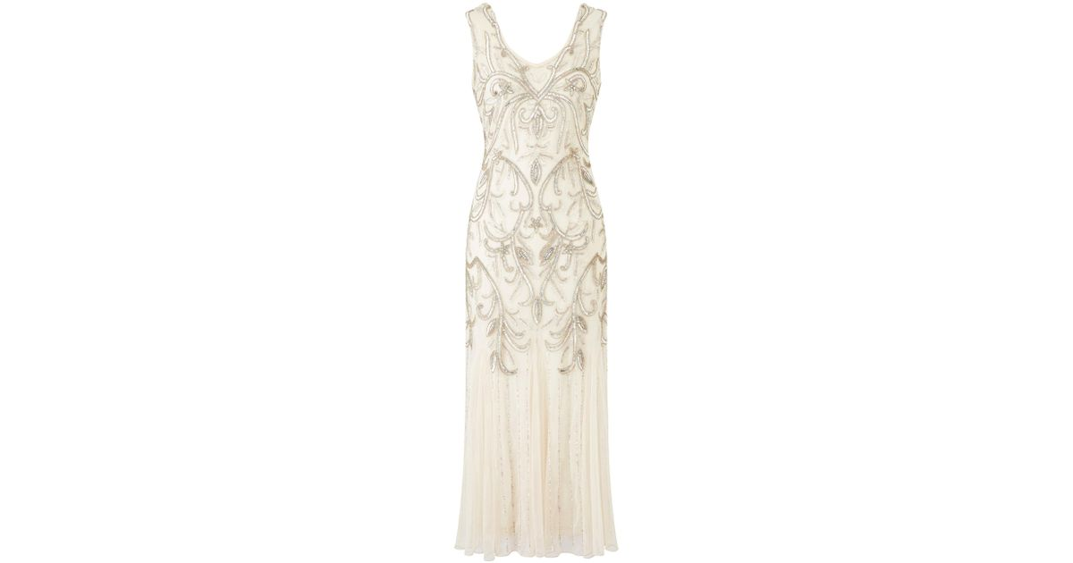 b1ecf616fa404 Simply Be Joanna Hope Beaded Maxi Dress in Natural - Lyst